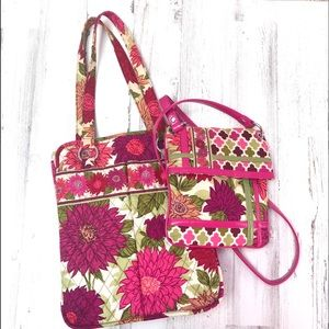 Vera Bradley Lot Tote & Cross Body Handbag